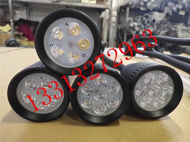 220VLED分散片照明灯 50D软管万向小方座工作灯 5珠工作灯 LED机床工作灯示例图10
