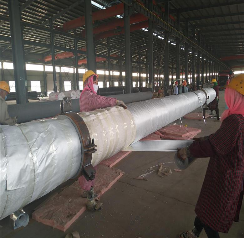 钢套钢直埋保温钢管 供暖用聚氨酯保温钢管 预制聚氨酯保温管厂家示例图2