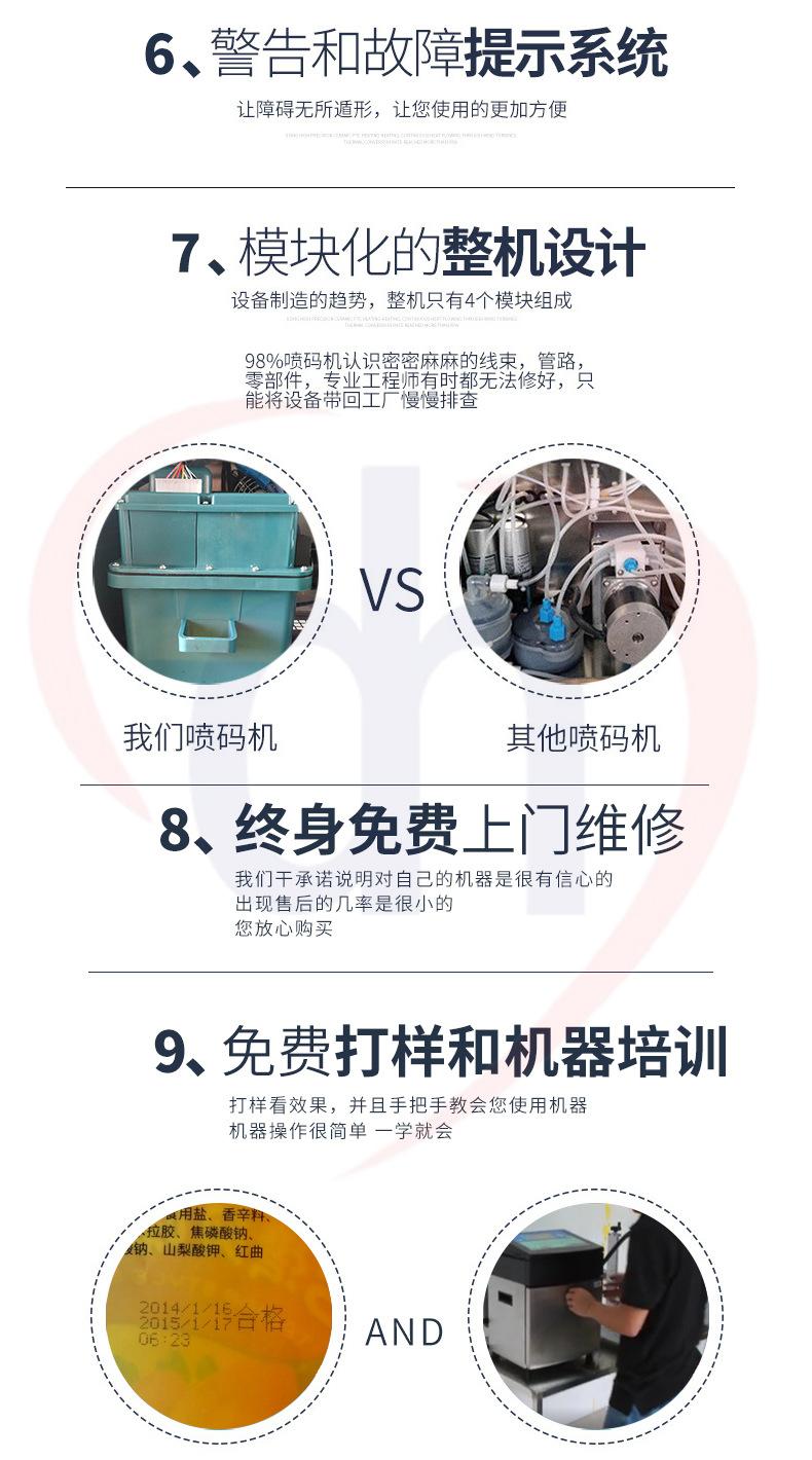 东晖DH680供应河南郑州周口亳州阜阳申瓯喷码机食品包装袋打码机示例图13
