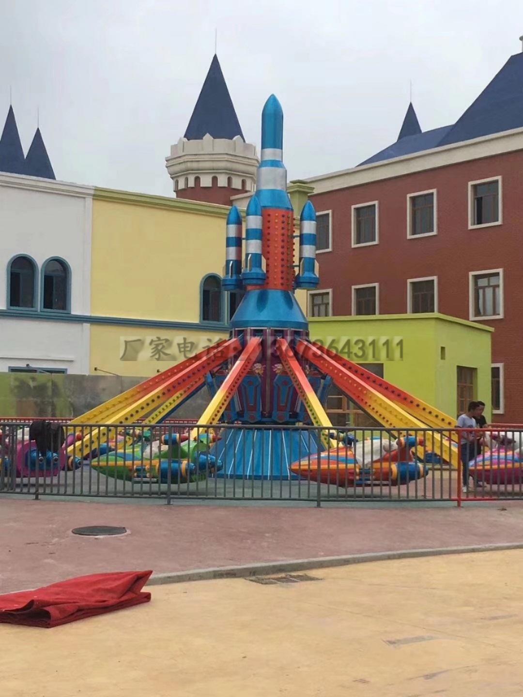 儿童娱乐新项目6臂旋转自控飞机 大洋游乐专业生产儿童自控飞机游艺设施厂家示例图3