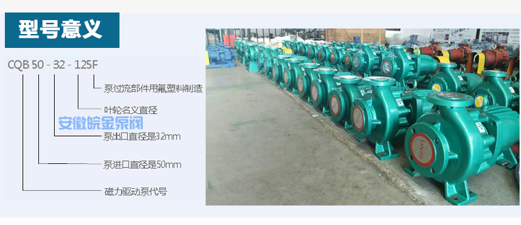 CQB25-20-100F四氟泵 耐酸堿防腐蝕泵 氟塑料磁力驅動泵 工業抽酸泵化工水泵示例圖4