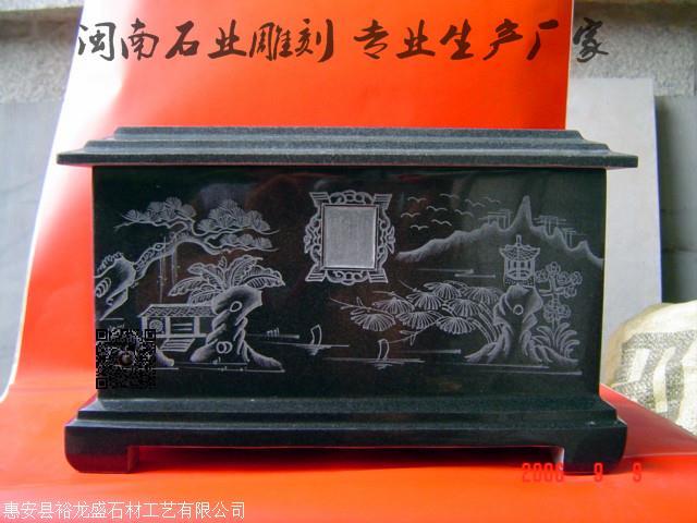 大理石龙凤棺材 玉石骨灰盒 殡葬用品 玉器骨灰盒示例图12