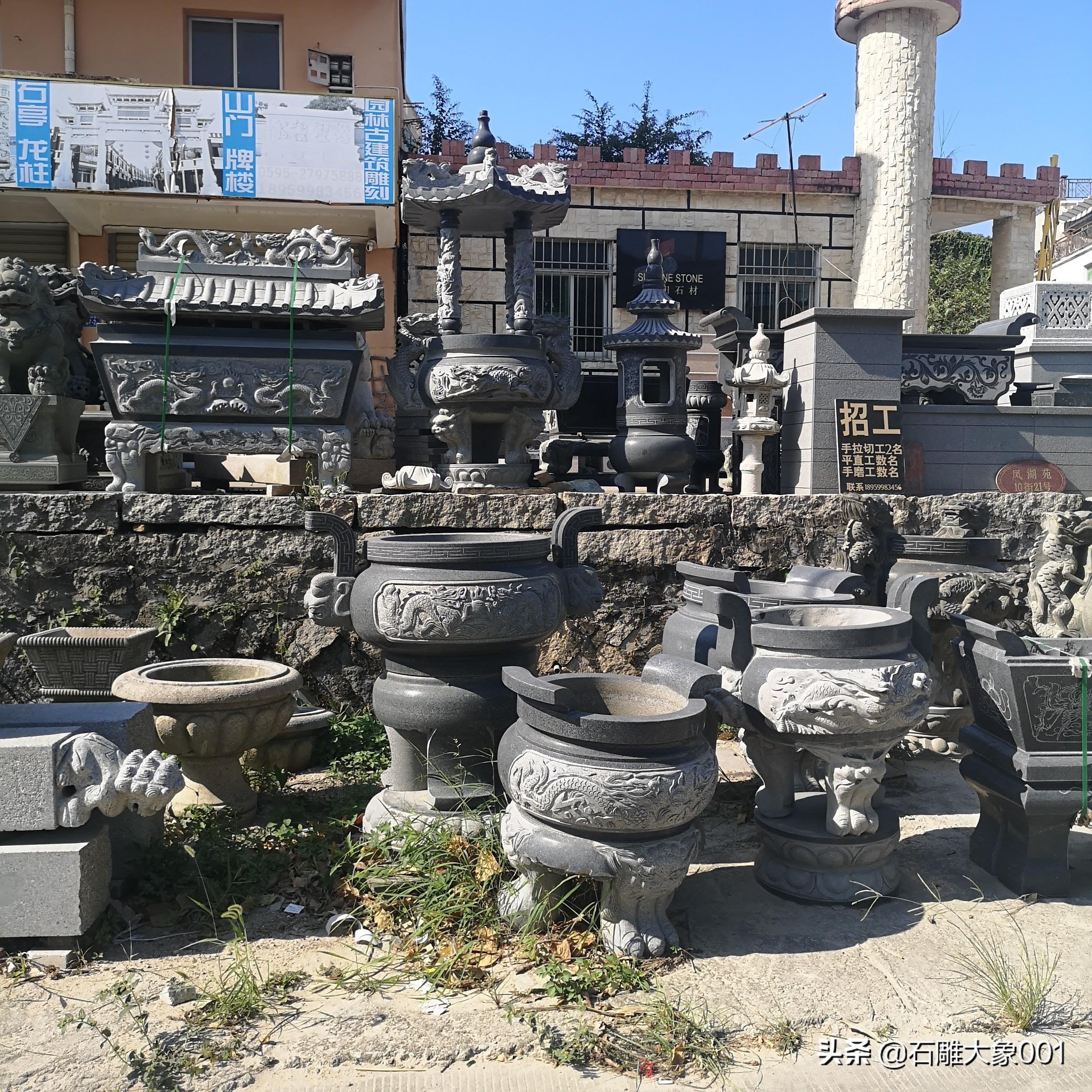 石雕香炉的用途及寺院香炉价格