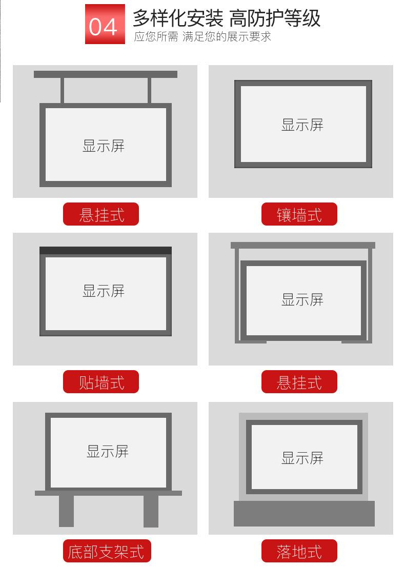 泰美 led显示屏户外全彩广告大屏P5led全彩显示屏户外电子屏户外防水屏示例图3