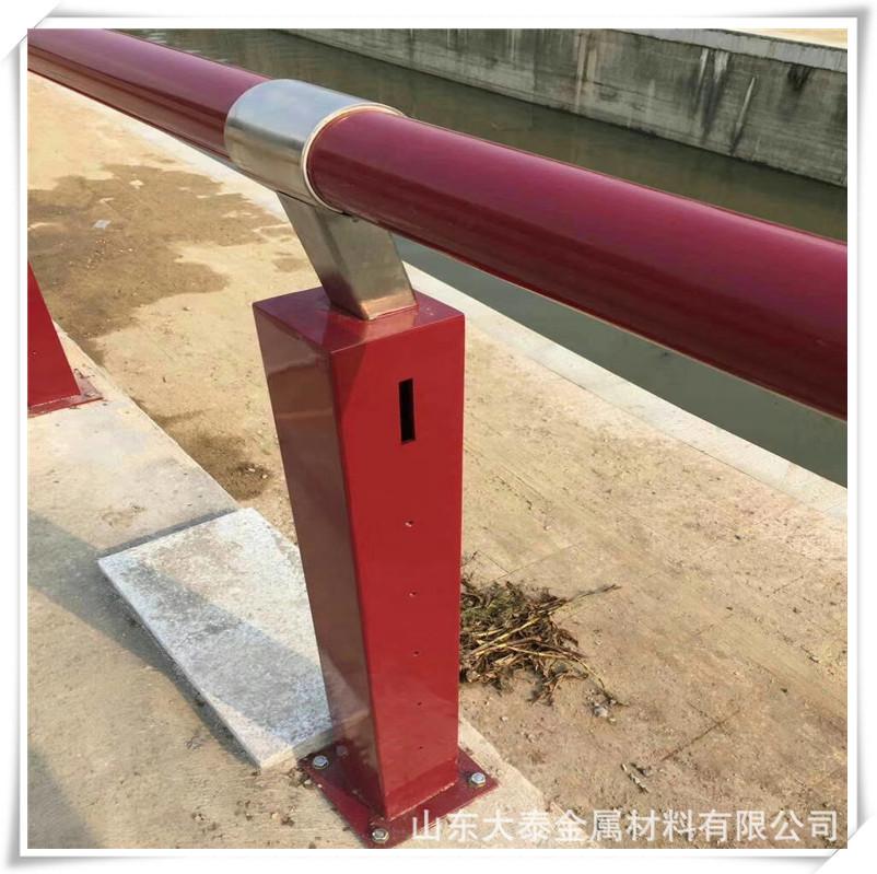 威海304不銹鋼復合管護欄廠家 定做橋梁護欄立柱量大優惠價格示例圖6