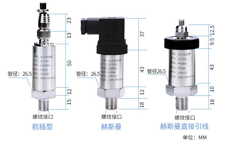油田压力变送器价格 油田压力传感器 4-20mA 吉创示例图24