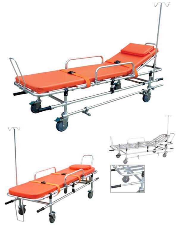 医用担架生产厂家 博科铝合金救护车担架示例图1