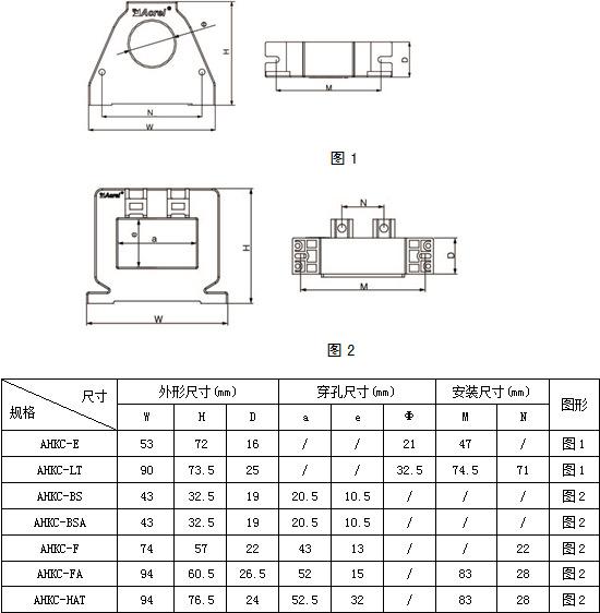 安科瑞AHKC-H 大<strong><strong><strong><strong><strong><strong>电流霍尔传感器</strong></strong></strong></strong></strong></strong> 输出5V/4V 孔径82*32 高精度抗干扰示例图9