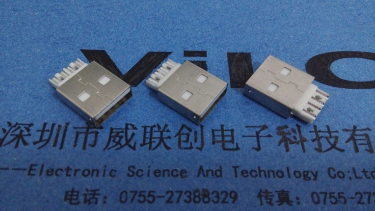 A公短体焊线式USB(普通AM USB短体焊线式插头)焊线式USB公头示例图2