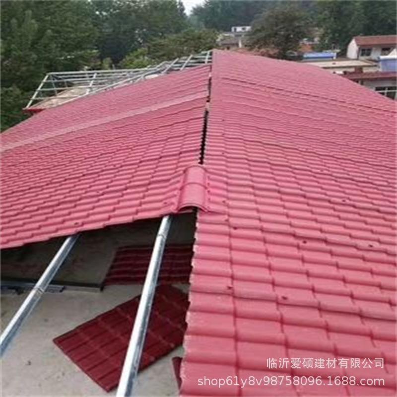 廠家直銷 東營合成樹脂瓦 平改坡裝飾瓦 屋頂瓦 別墅瓦示例圖4