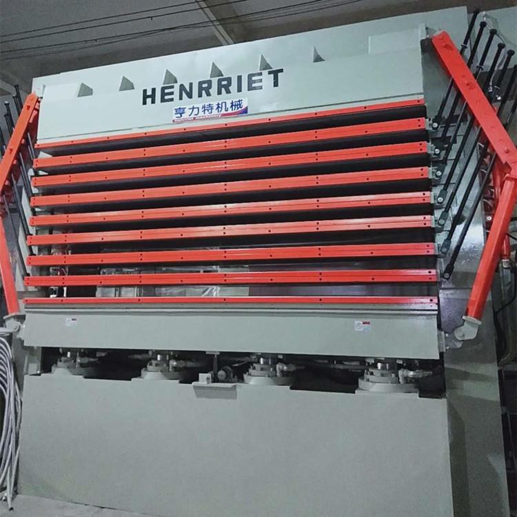 亨力特hlt3248-600t三聚氰氨貼面熱壓機,木工家具貼面熱壓機,生態板貼面熱壓機,尺寸非標可以定制示例圖10