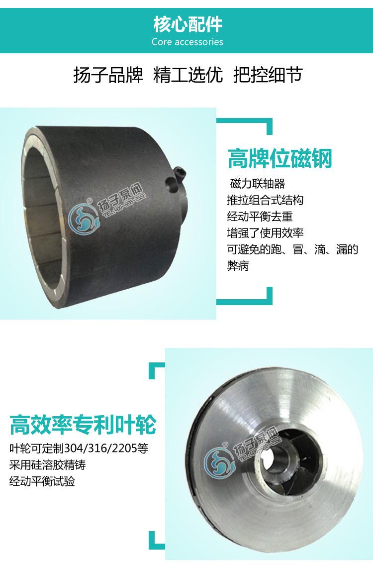 TCL-G立式磁力管道泵 无泄漏不锈钢磁力泵 碱液泵 防爆磁力泵厂家示例图7