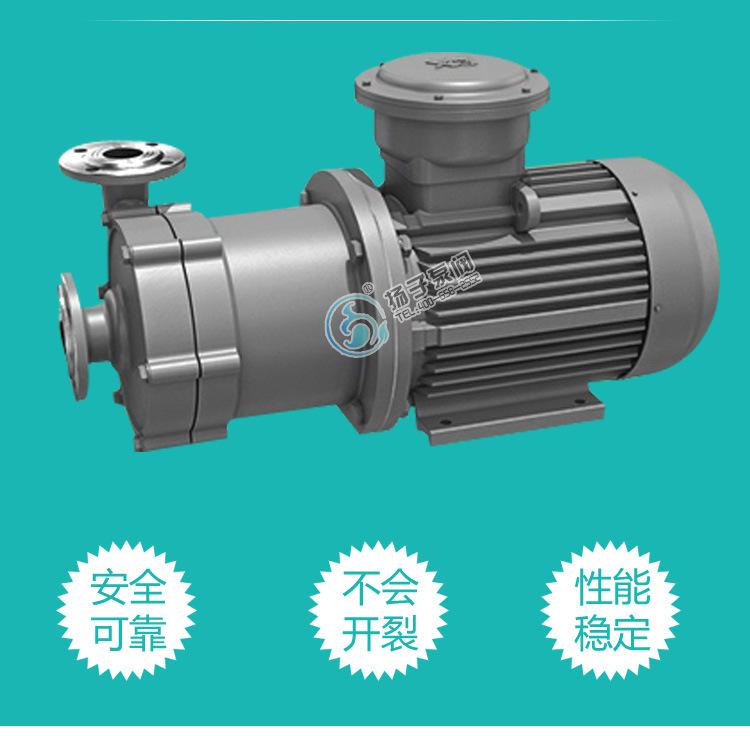 50CQ-50磁力循环泵 cq不锈钢防爆食品级医用防腐蚀无泄漏磁力水泵示例图4