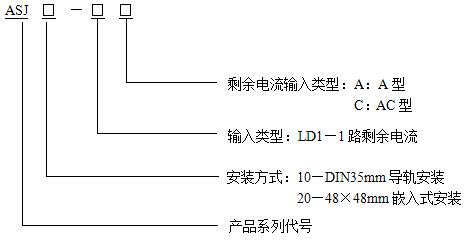 通讯铁塔用过欠压保护器    智能剩余电流继电器   安科瑞ASJ20-LD1A    双继电器输出  1路A型剩余电流示例图1