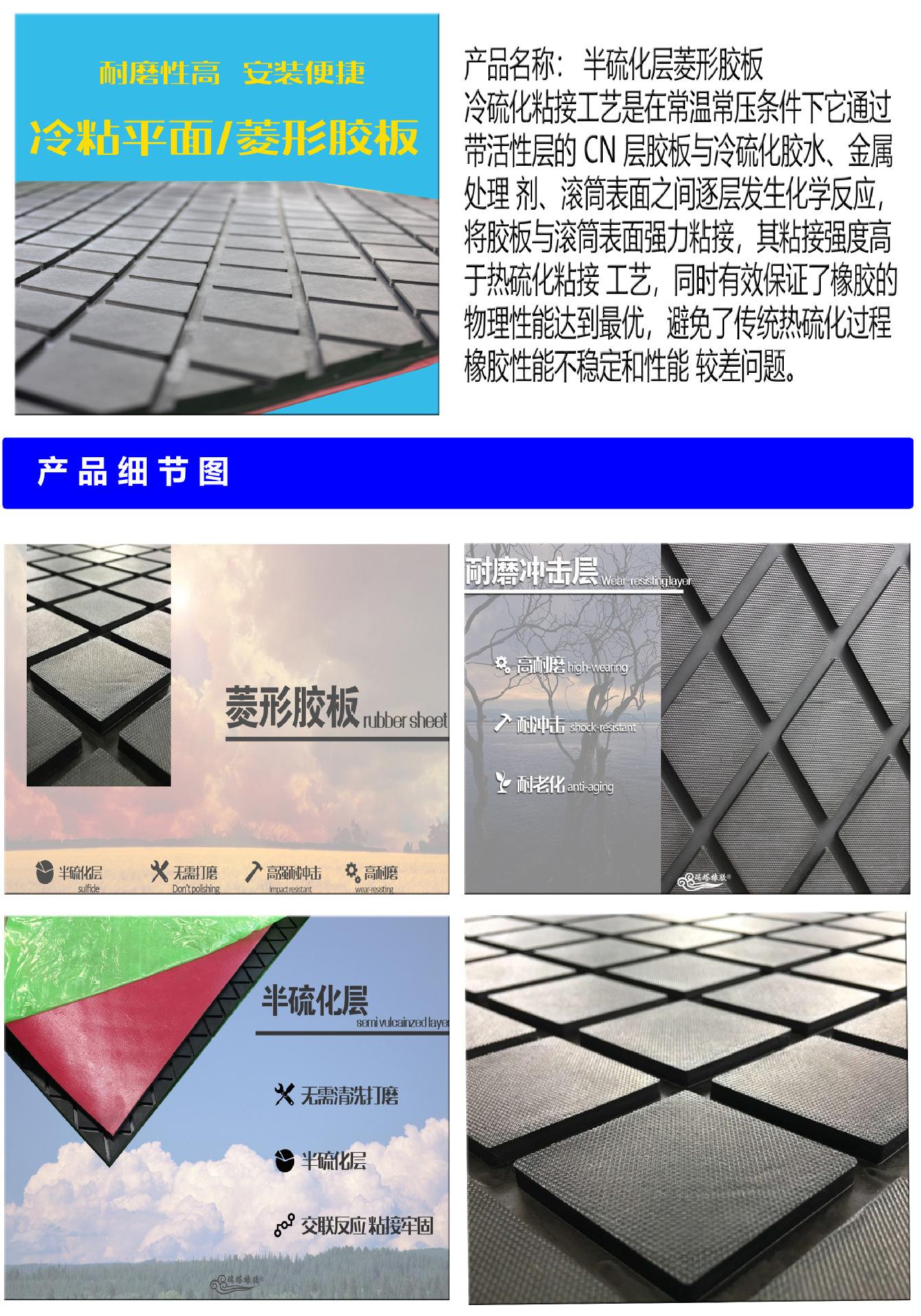 15mm冷粘耐磨胶板,冷硫化胶板,冷硫化滚筒包胶材料示例图1
