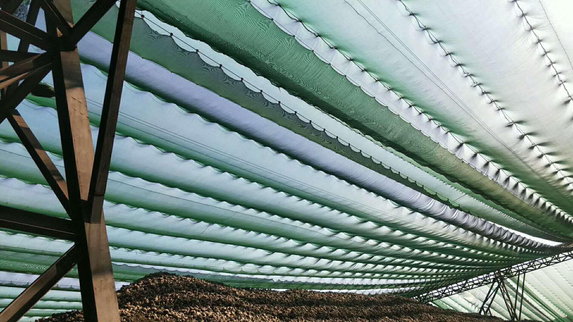 塑料防风抑尘网,塑料防风抑尘墙,塑料编织防风抑尘网,港口塑料挡风抑尘墙定做示例图13