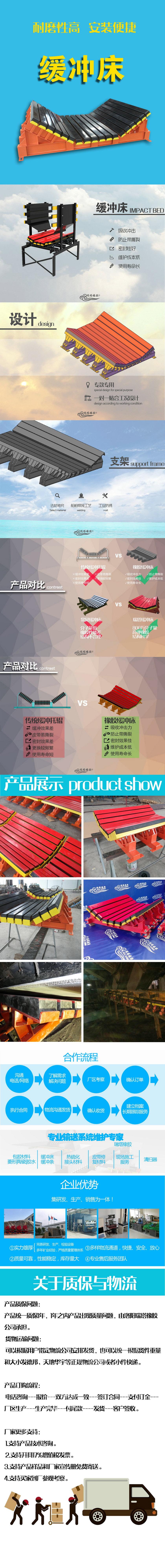 厂家专业生产B1000缓冲床,1m缓冲滑槽,缓冲床安装示例图13