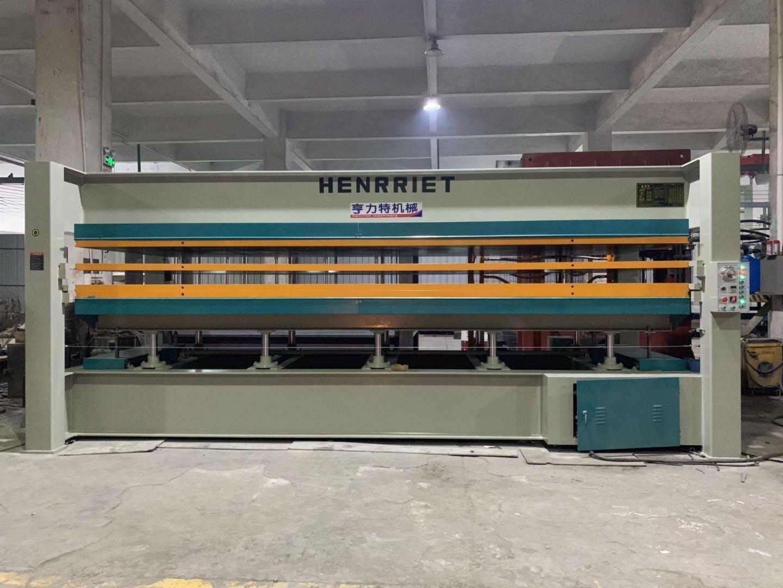 亨力特hlt3248-120t貼木皮熱壓機,木工家具貼面熱壓機尺寸,非標可以定制示例圖23