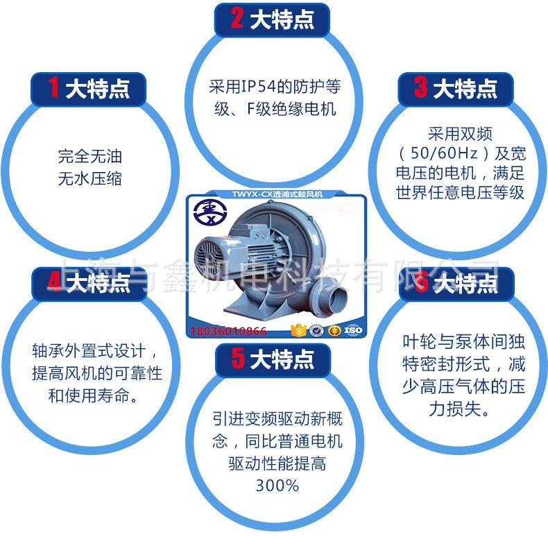 网版印刷机吸附高压风机 , 印刷吸附高压气泵示例图11
