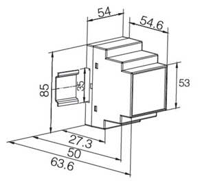 通讯铁塔用过欠压保护器    智能剩余电流继电器   安科瑞ASJ20-LD1A    双继电器输出  1路A型剩余电流示例图5