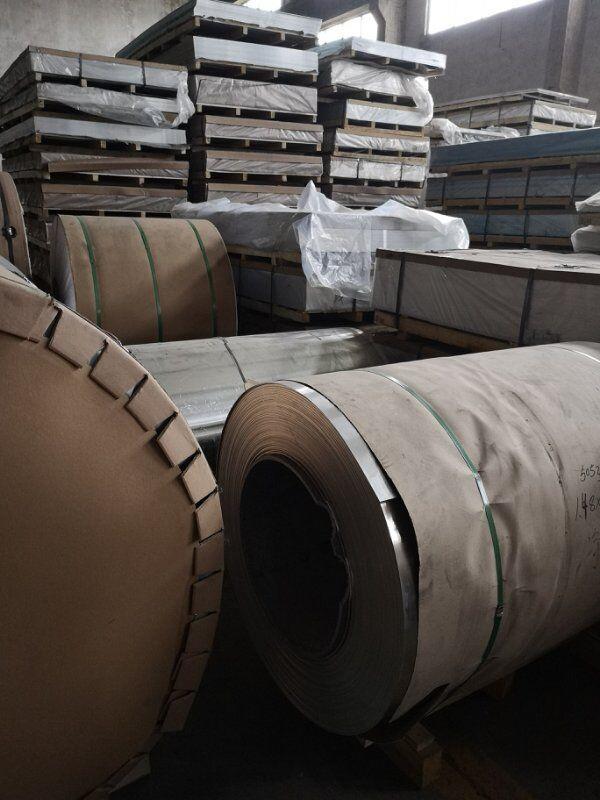 上海大小五条筋防滑铝板1060花纹铝板条筋花纹铝板示例图2