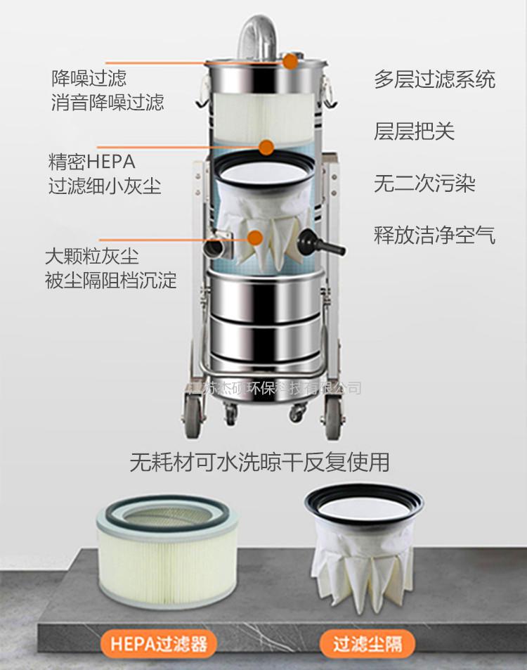 2.2KW激光雕刻吸尘器 脉冲反吹铜屑打磨吸尘器示例图10
