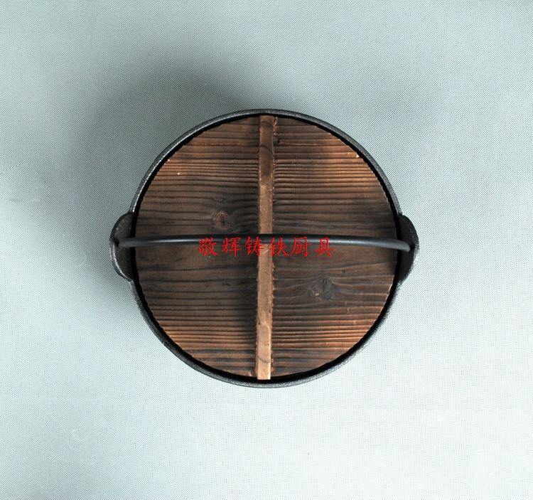 日式寿喜锅铸铁汤煲手工铸造炖锅汤锅炖煲老式日本锅鑄鐵鍋定做示例图3