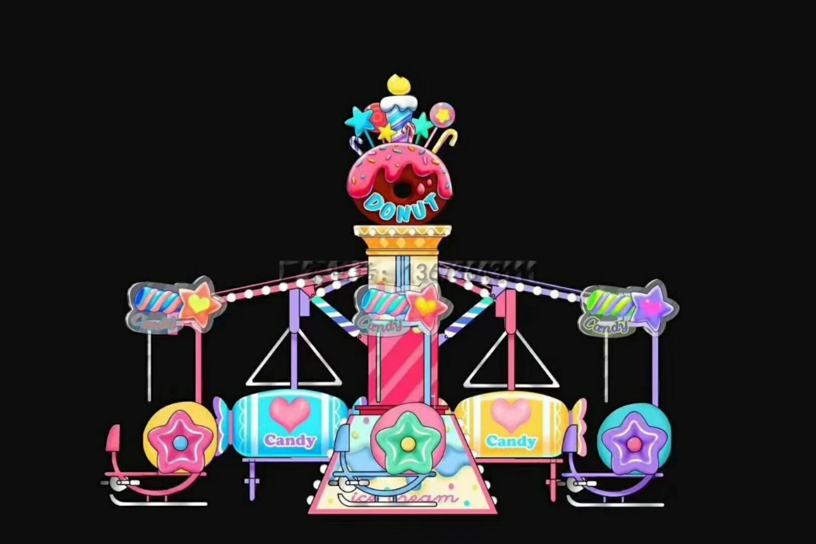 儿童游乐场游乐设备西瓜飞椅_16座旋转水果飞椅_郑州大洋水果旋风示例图20