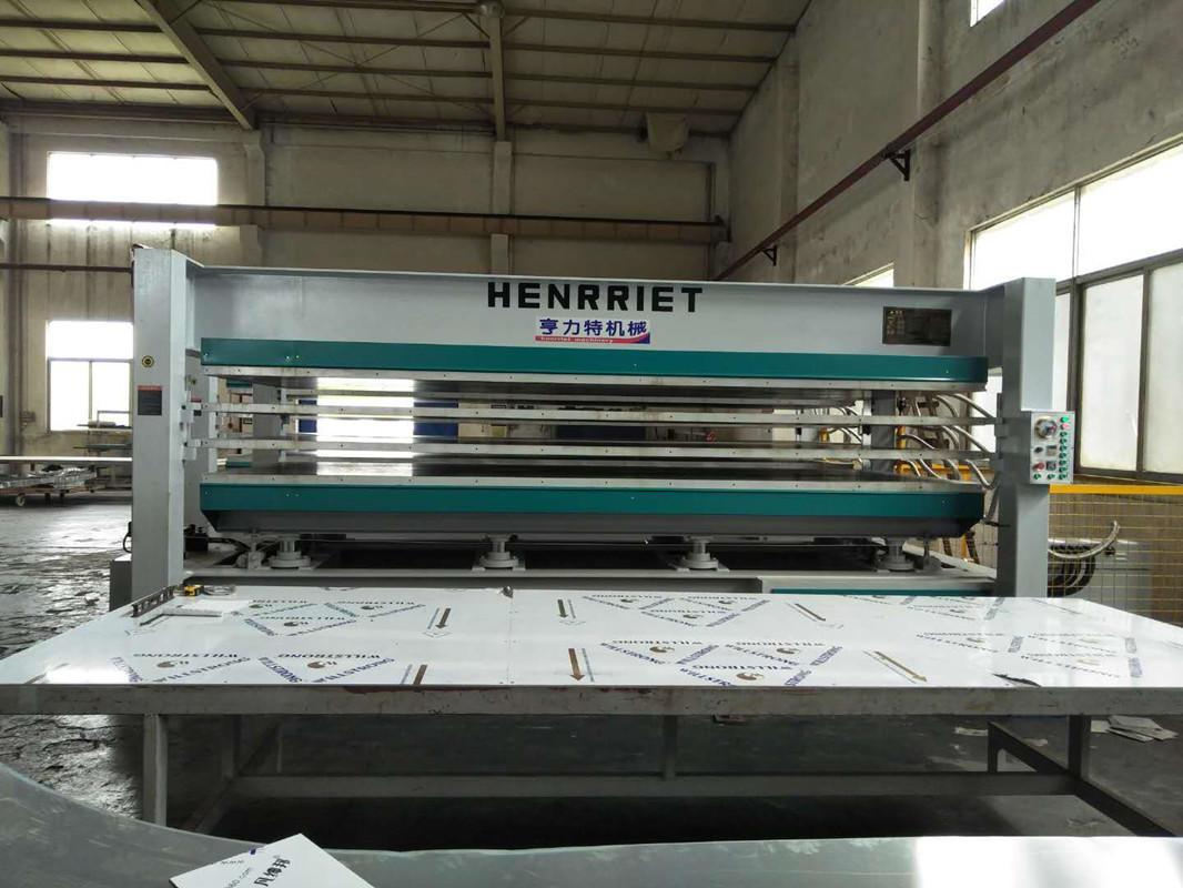 亨力特hlt3248-120t貼木皮熱壓機,木工家具貼面熱壓機尺寸,非標可以定制示例圖24