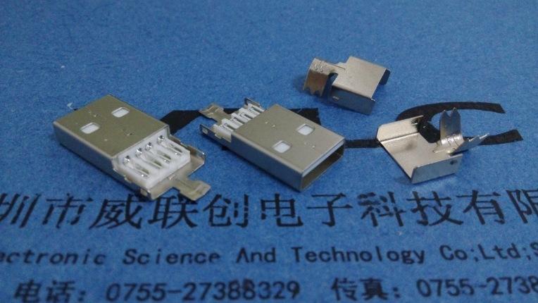 A公短体焊线式USB(普通AM USB短体焊线式插头)焊线式USB公头示例图5