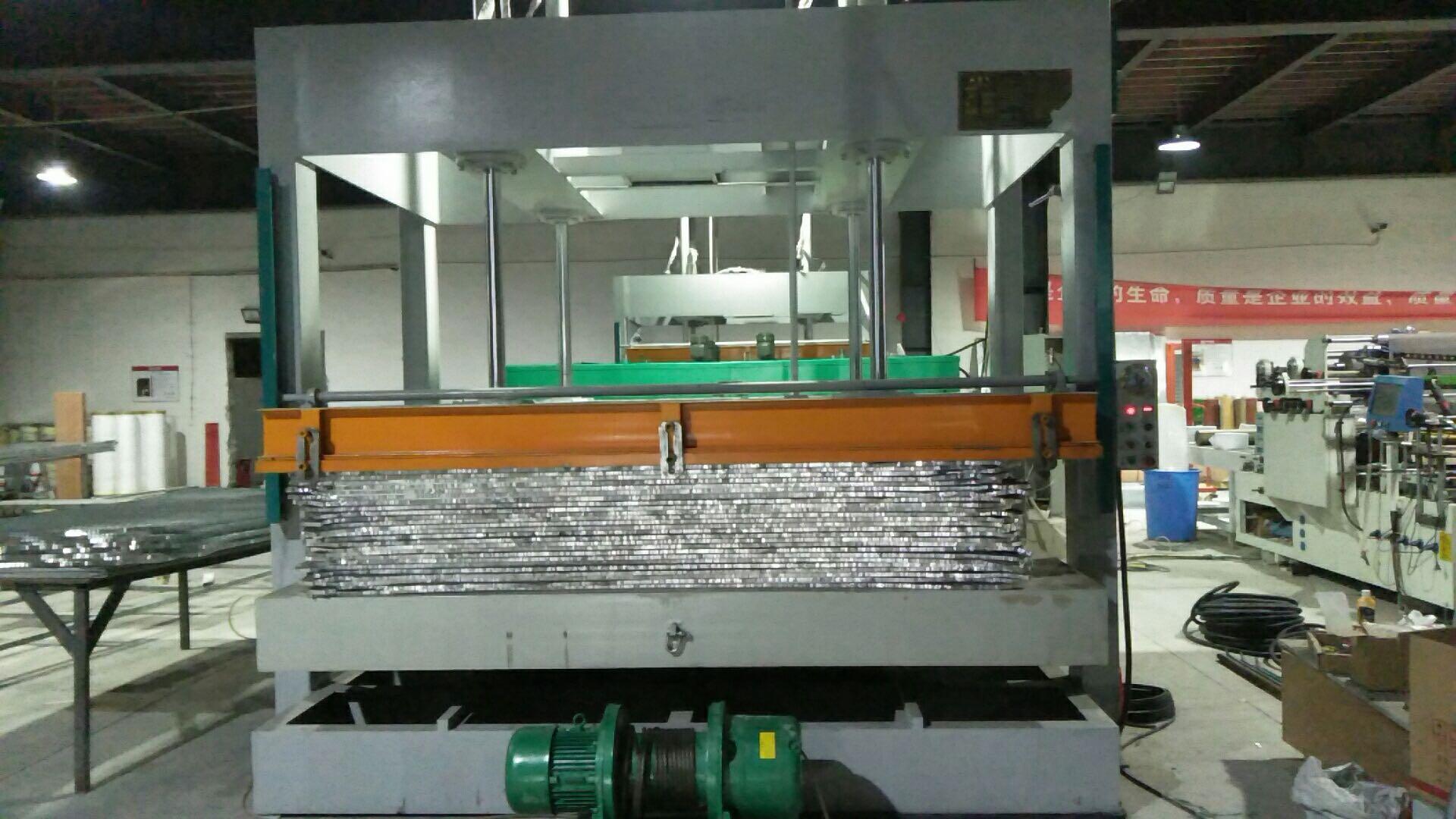 今日特價亨力特機械160噸,空調板,冷庫板,車廂板,整體衛浴發泡板,聚氨脂發泡板熱壓機示例圖39