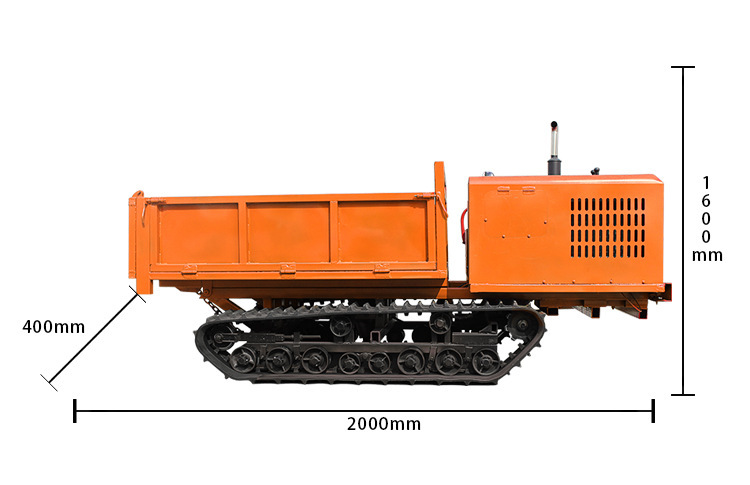 福建园林专用自卸履带运输车 定制小型3吨履带运输车直销价示例图15