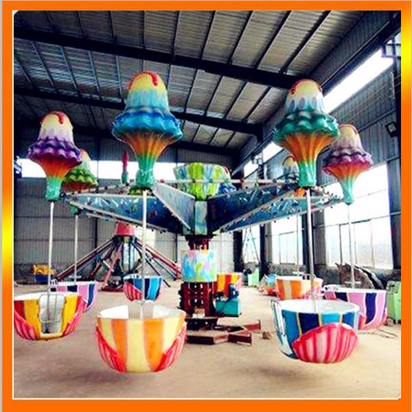 郑州大洋专业生产逍遥水母游乐设备 公园精品游乐8臂旋转逍遥水母示例图4