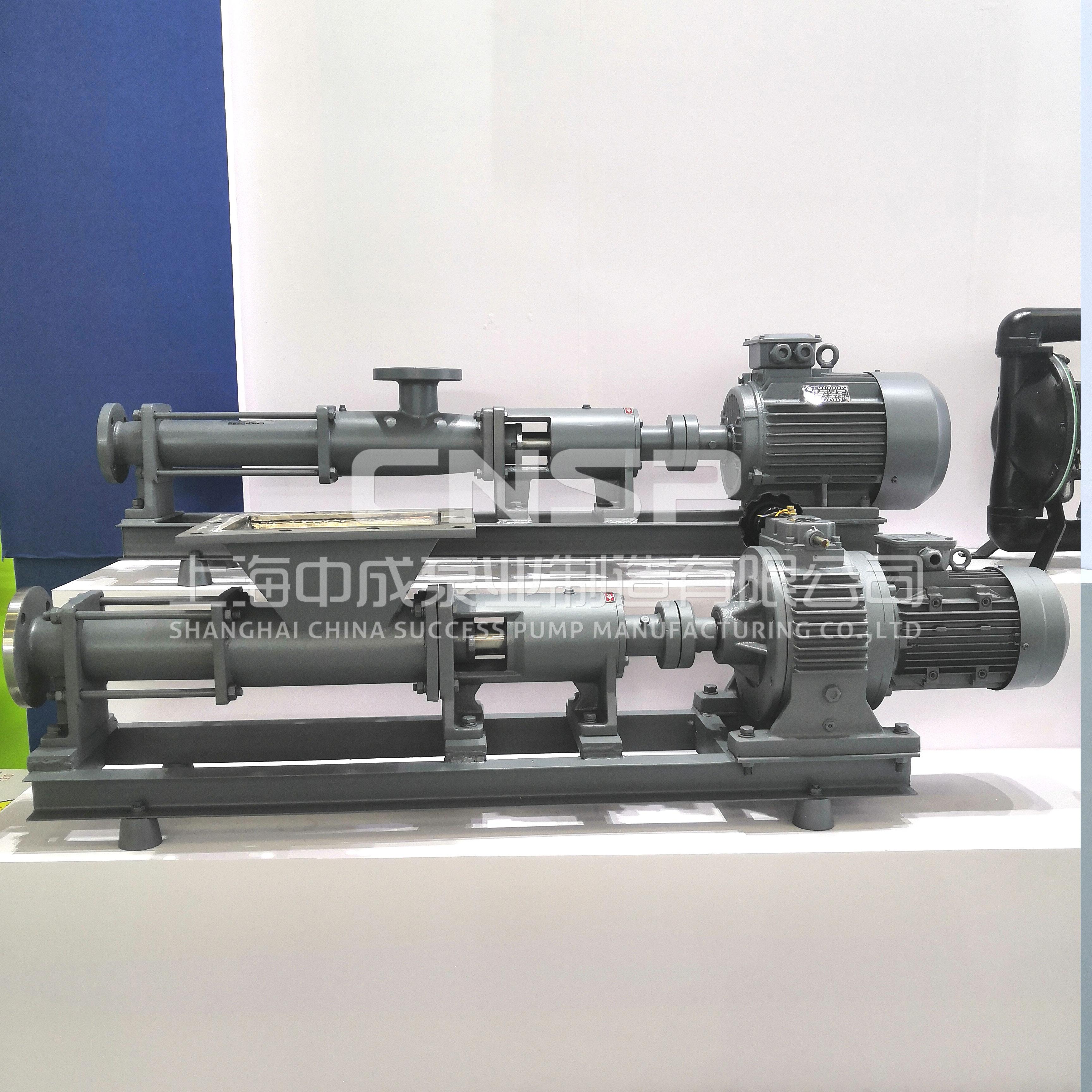 上海中成泵业单螺杆泵 G型污泥螺杆泵 厂家直销 现货直供 型号齐全示例图5