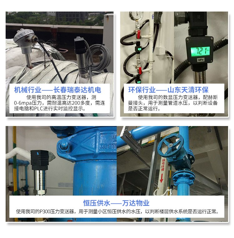 油田压力变送器价格 油田压力传感器 4-20mA 吉创示例图2