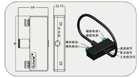 电磁感应 实时测量 隔离输出4-20mA  安科瑞BR-AI /350  交流电流变送器 采真有效值测量示例图2