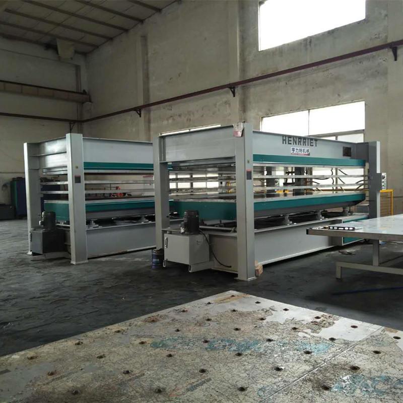 亨力特hlt3248-600t三聚氰氨貼面熱壓機,木工家具貼面熱壓機,生態板貼面熱壓機,尺寸非標可以定制示例圖35