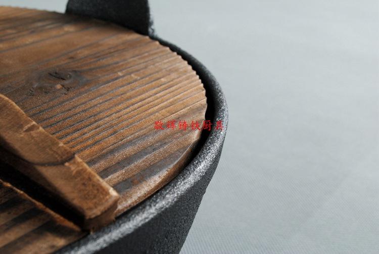 日式寿喜锅铸铁汤煲手工铸造炖锅汤锅炖煲老式日本锅鑄鐵鍋定做示例图6