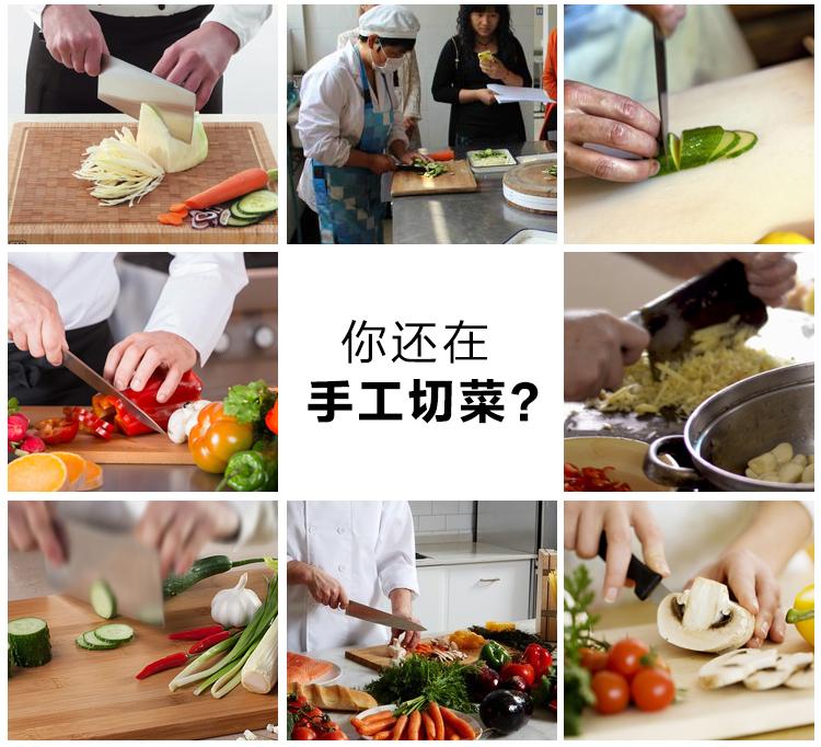 不锈钢多功能电动切菜机胡萝卜土豆切块机切丁机示例图8