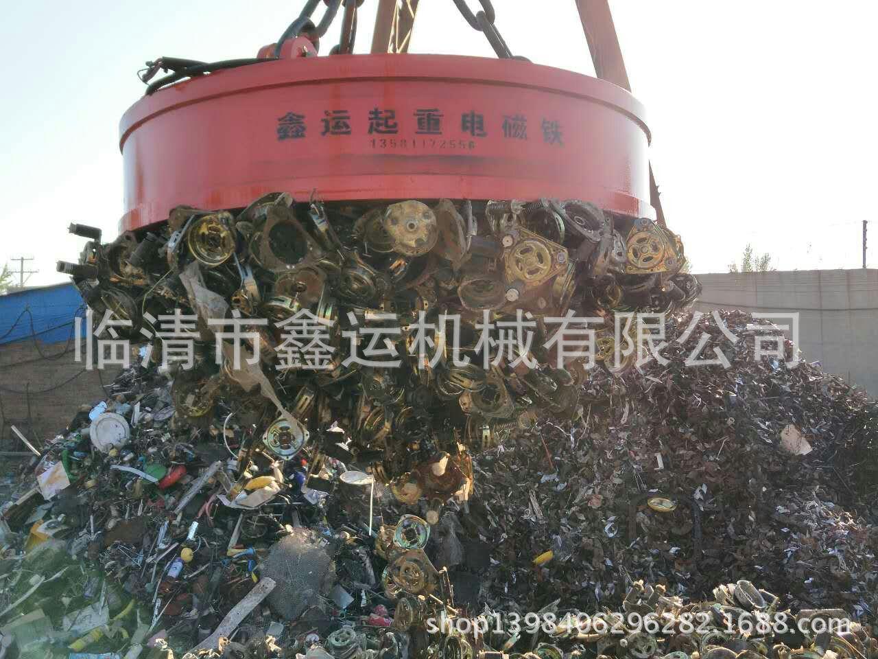 厂家直销起重电磁铁MW5-130L/1强励磁挖掘机吸铁盘行车搬运废钢废料起重电磁吸盘示例图15