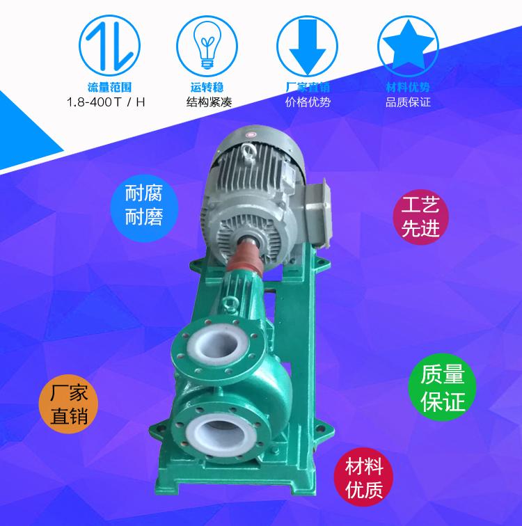 IHF65-50,50-32型,氟塑料離心泵,四氟合金泵廠家,防腐化工泵示例圖3