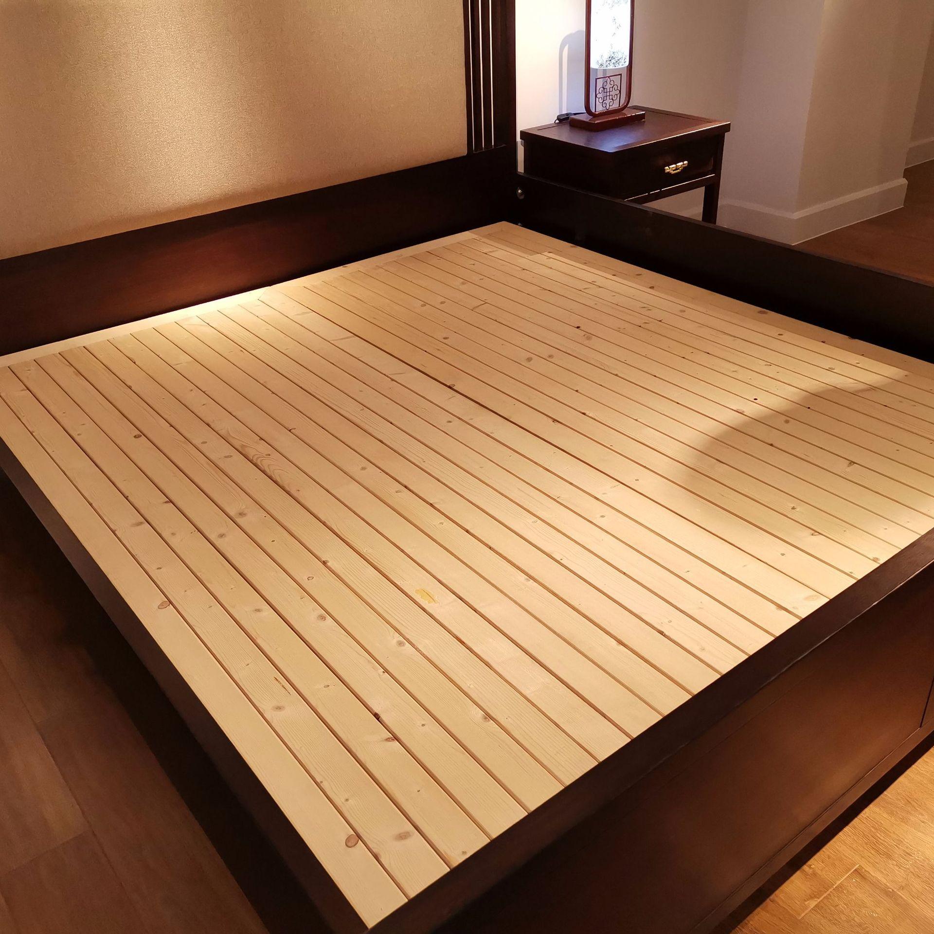 现代新中式实木床 简约卧室双人床 大婚床乌金木家具 可定制示例图7
