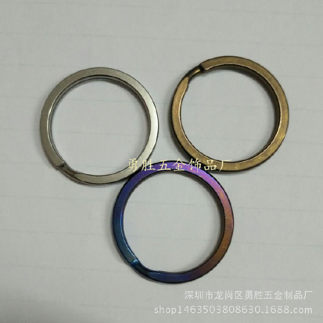 大量生产钛合金钥匙圈 钥匙环 28mm平面圈 钛合金登山扣 欢迎订购