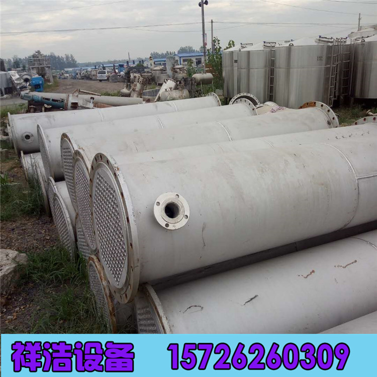 出售二手冷凝器 二手鈦材冷凝器 80平方304L不銹鋼冷凝器示例圖2