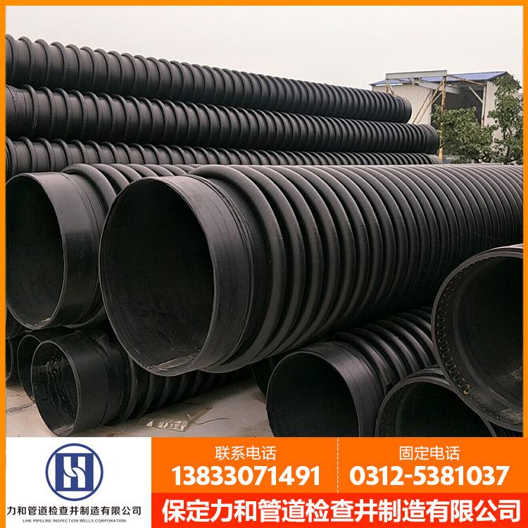 聚乙烯B型结构壁管材 排污克拉管 hdpe增强结构壁缠绕管示例图7
