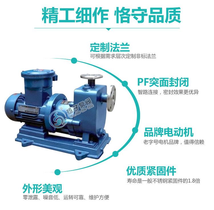 强酸强碱输送泵 ZCQ50-40-200 耐腐蚀不锈钢316自吸磁力泵 批发示例图9