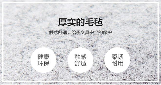迷你毛毡笔袋韩版钢笔套 布艺简约高中生钢笔保护套示例图4