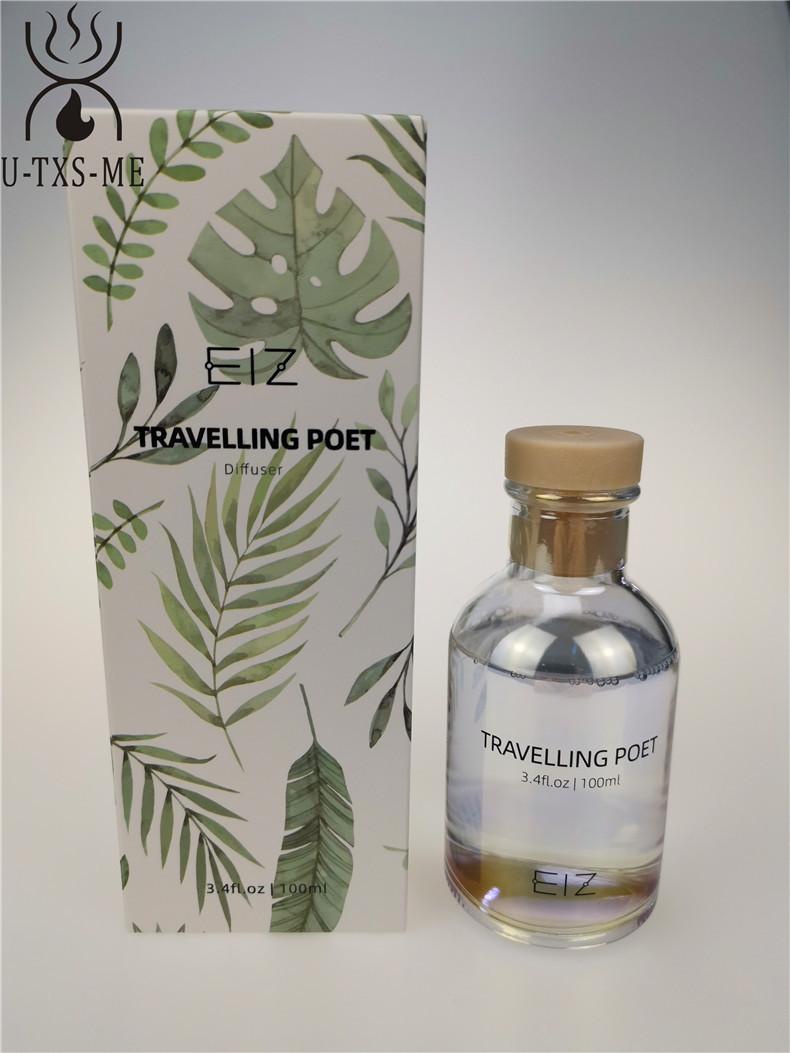厂家定制镭射100ml香水玻璃瓶家居植物精油环保无火藤条香熏示例图6