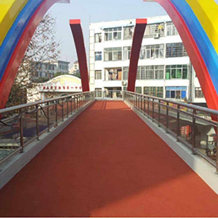 彩色防滑路面材料透氣塑膠跑道反光彩色陶瓷顆粒EPDM顆粒生產廠家示例圖7