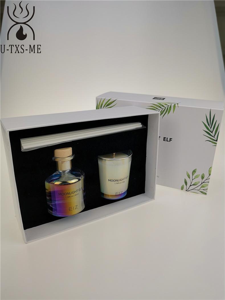 玻璃杯家居植物精油环保进口大豆蜡烛散香器香薰套装伴手礼示例图4